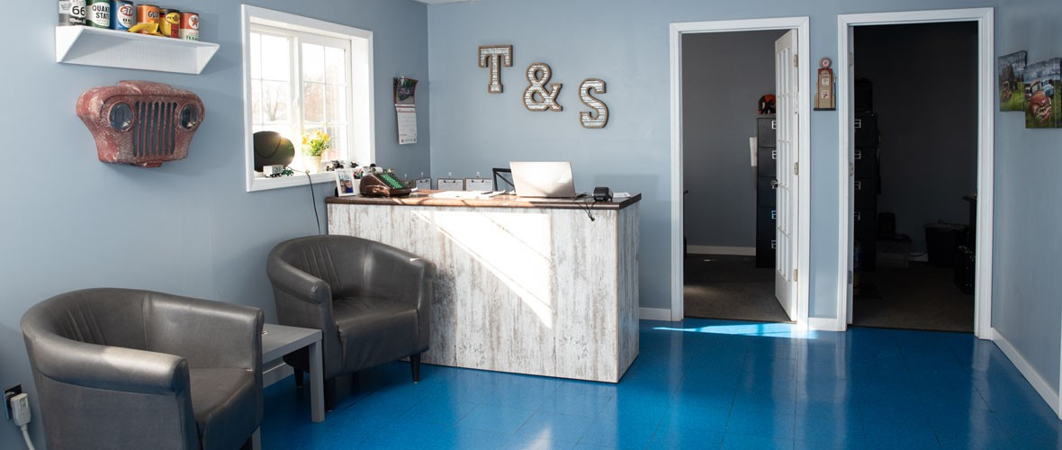 T&S Auto office counter